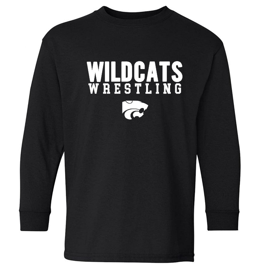 WILDCATS WHITE LS YOUTH TEE - 2 COLORS