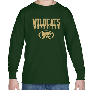 WILDCATS GOLD LS YOUTH TEE - 2 COLORS