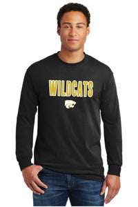 Wildcats - GOLD/WHITE - Long Sleeve Tee