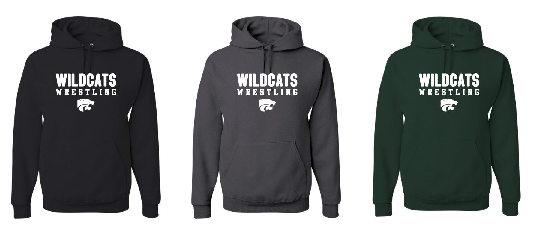 Wildcats Wrestling C Traditional Hoodies
