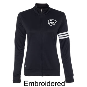Adidas - Women's ClimaLite 3-Stripes French Terry Full-Zip Jacket-Black
