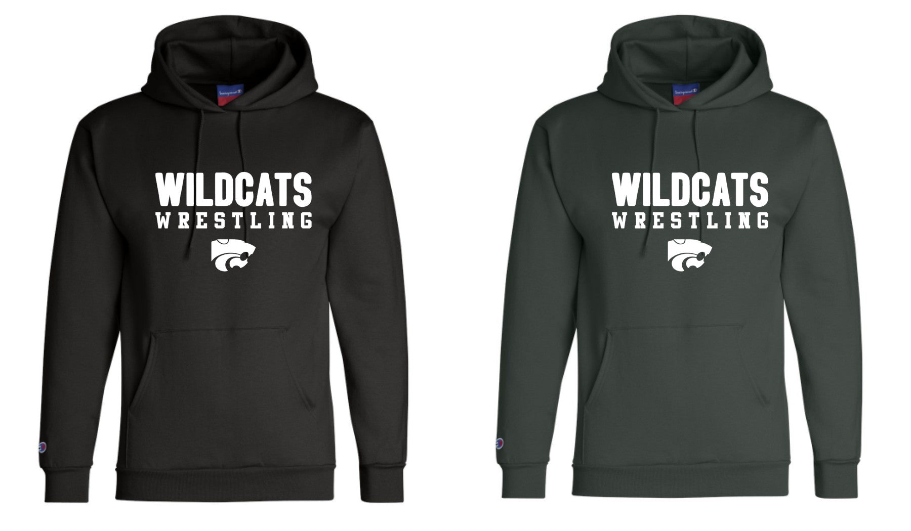 Champion Wildcats Wrestling C Hoodies