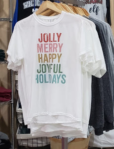 JOLLY, MERRY, HAPPY TEE