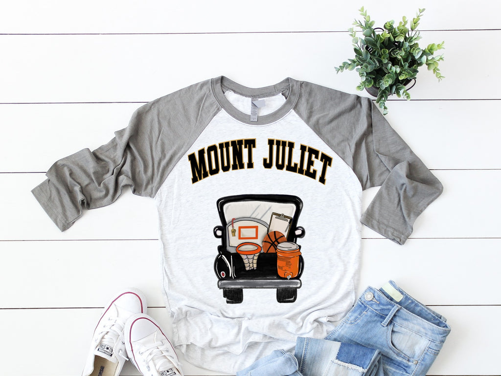 MJ Basketball Truck Raglan