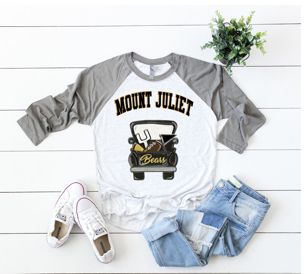 Mt Juliet Football Truck Raglan