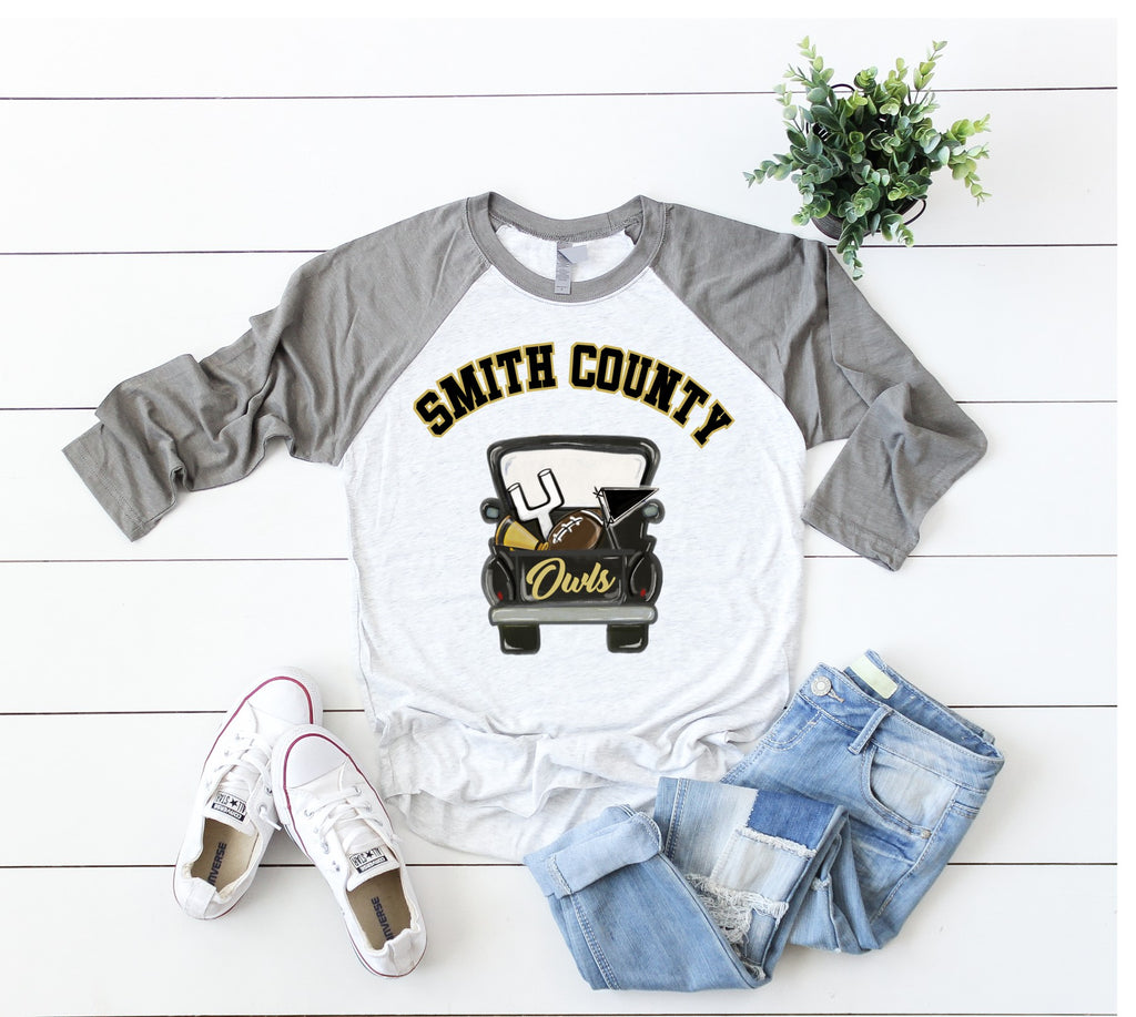 Smith County Football Truck Raglan