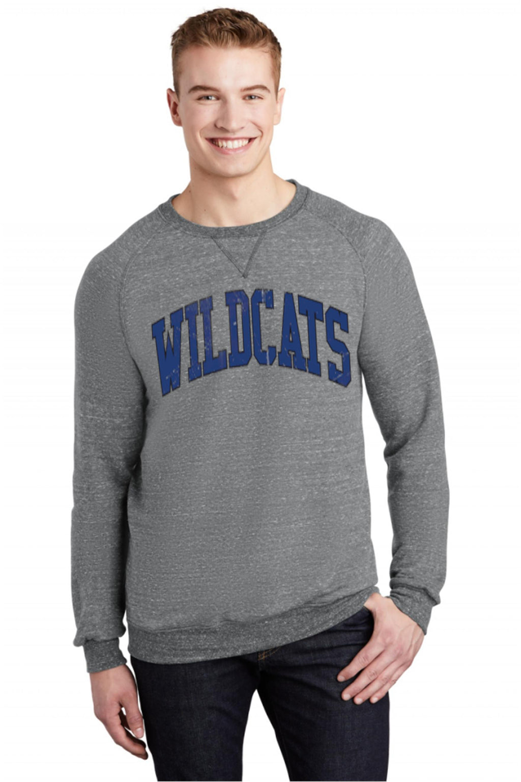 Wildcat Crew Neck Sweatshirt - BLUE