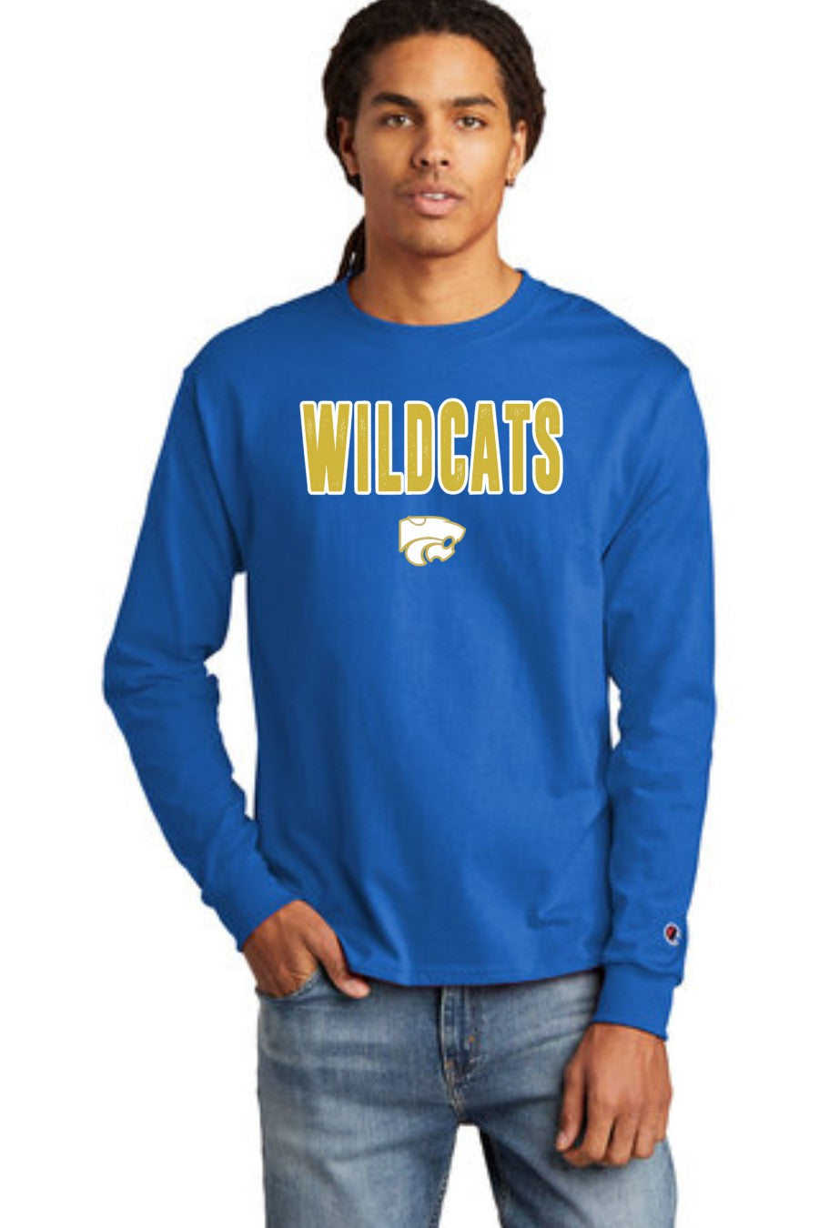 Wildcats - GOLD/WHITE - Champion Long Sleeve