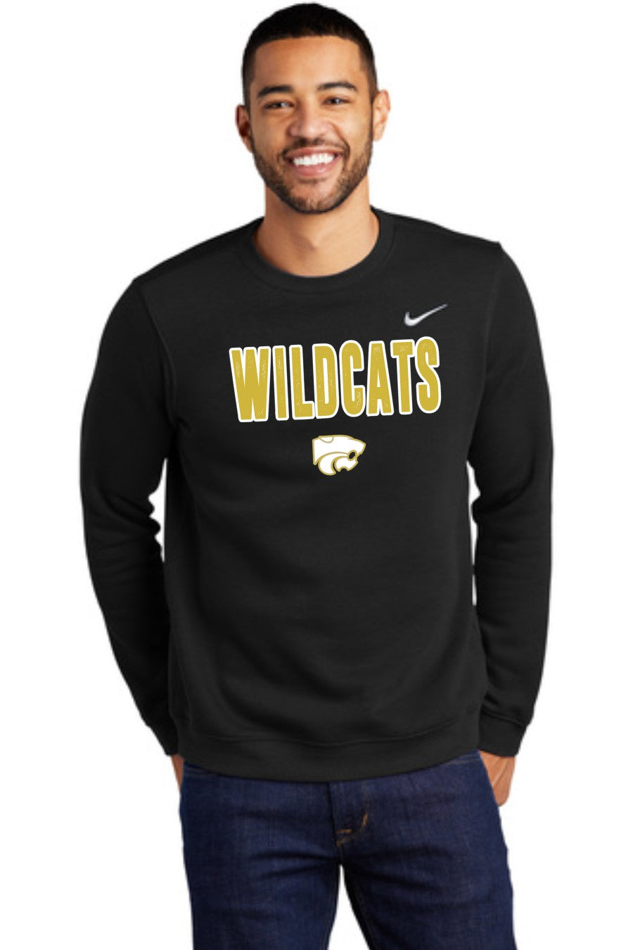 Wildcats - GOLD/WHITE - Nike Crew Neck Sweatshirt