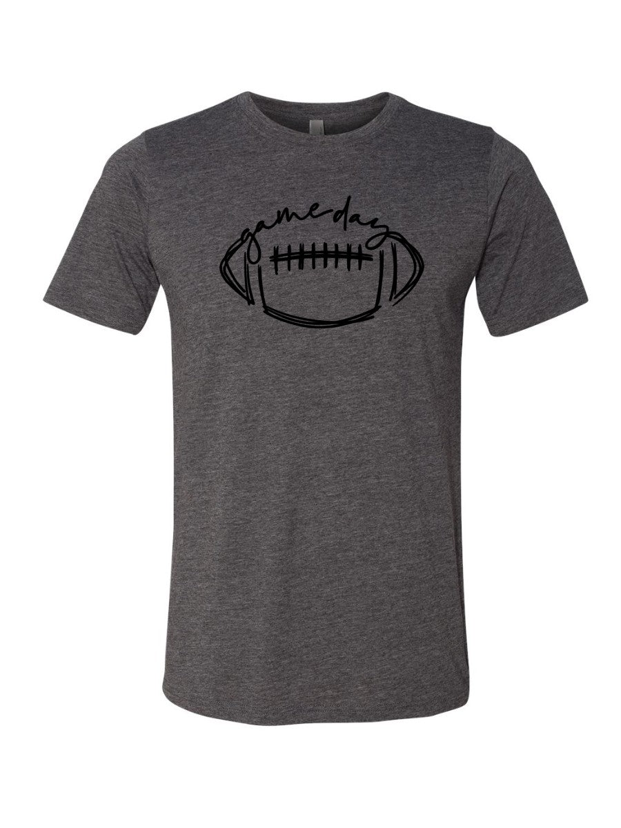 Game Day Football Tee - Charcoal