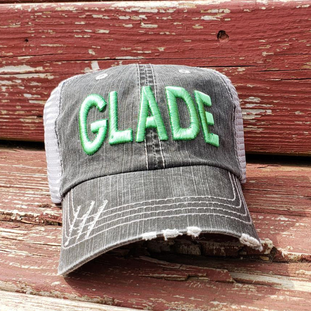 GLADE Distressed Trucker Hat