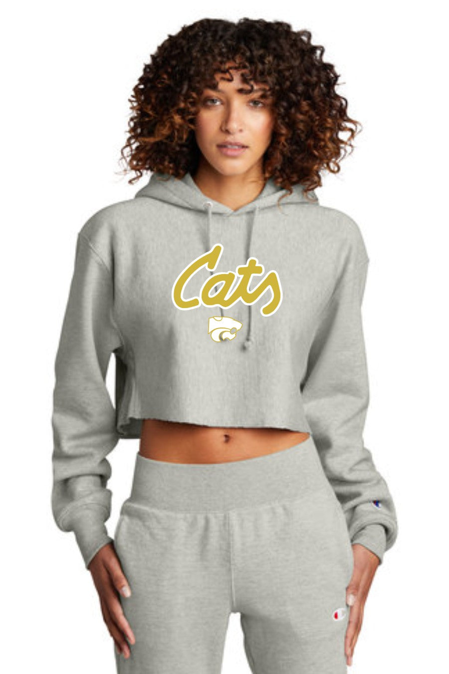 Cats - Champion Cropped Hoodie