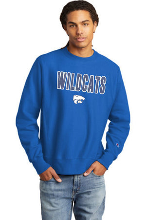 Wildcats - BLUE/WHITE - Champion Crewneck Sweatshirt
