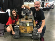 Photo of Wall-E Robot at LA Comic-Con and Michael McMaster