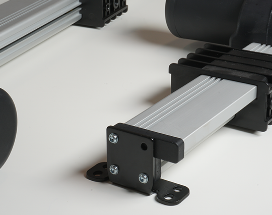 Track linear actuators are with fixed mounting points