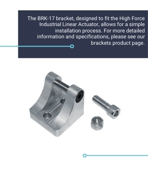 Mounting Bracket BRK-17 for High Force Industrial Actuator