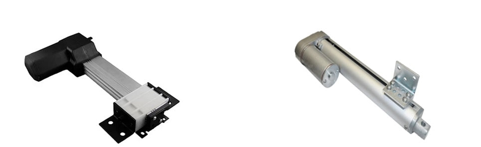 Photo of track linear actuators PA-18 and PA-08 models by Progressive Automations