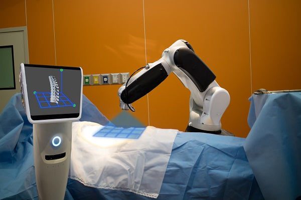 Photo of a robotic medical machine at a hospital