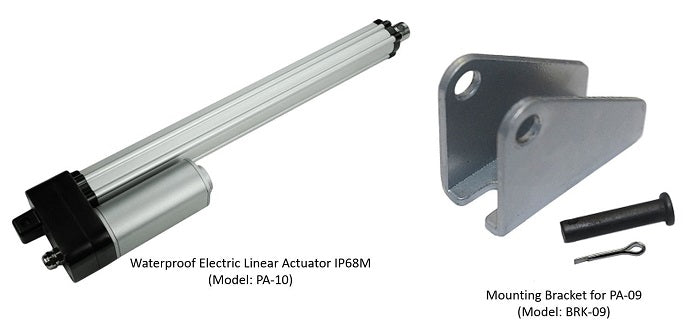 Waterproof Electric Linear Actuator IP68M (Model: PA-10) and it's accessory