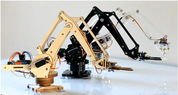 Three robotics arms