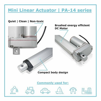 mini linear actuator PA-14 by Progressive Automations