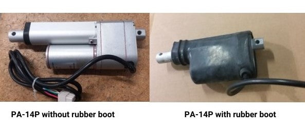 Photo of the PA-14P without rubber boot and PA-14P with rubber boot
