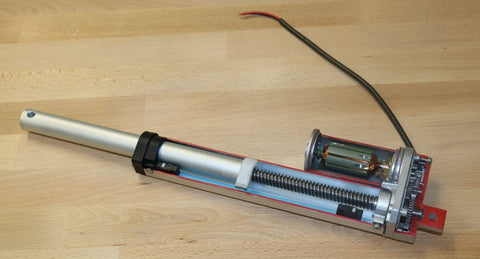 Photo of inside PA-14 Linear Actuator by Progressive Automations
