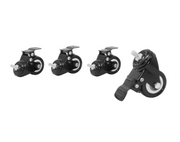 "2"" Lockable Caster Wheels - Set of 4 - Black"