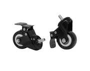 "Load image into Gallery viewer, 2"" Lockable Caster Wheels - Set of 6 - Black"