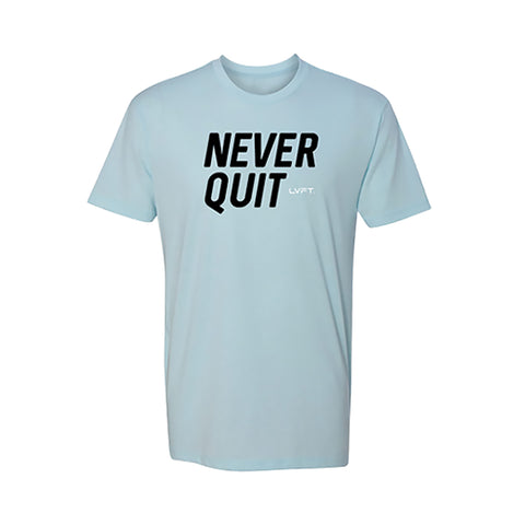 Never Quit Tee - Ice Blue