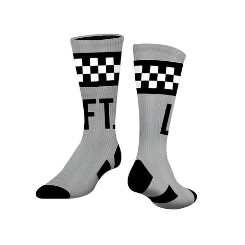 Checkered Socks - Grey/Black
