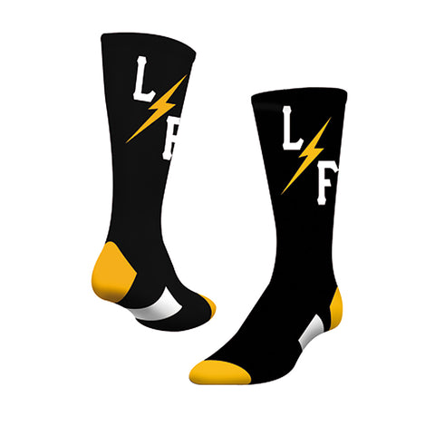 Bolt Socks - Black/Gold