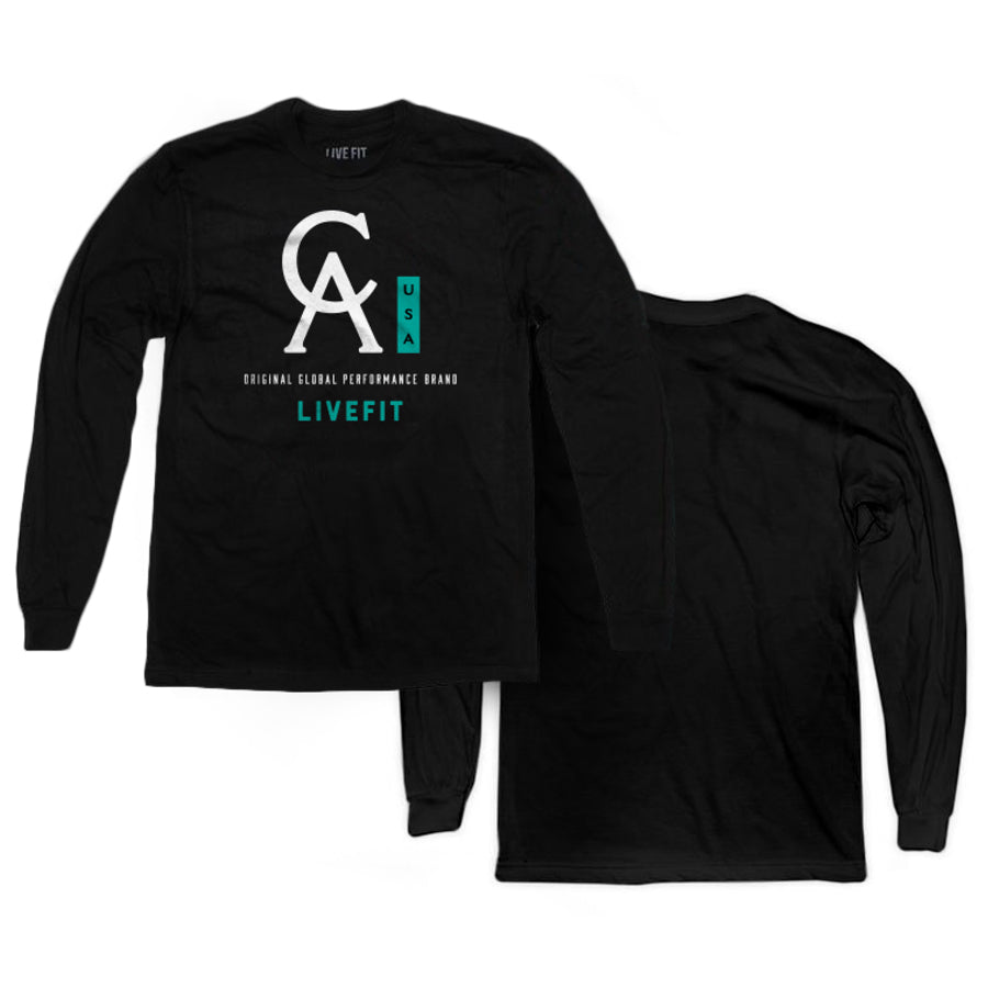 CA USA Long Sleeve - Black/Mint