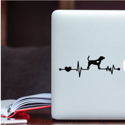 Beagle Heartbeat Decal