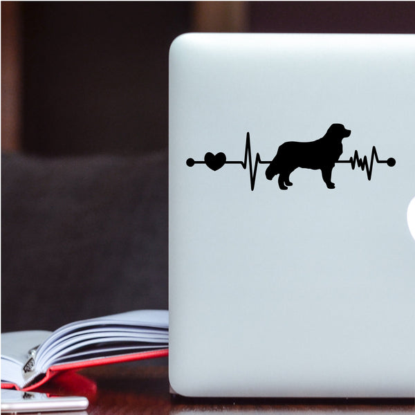 Bernese Mountain Dog EKG Heartbeat Car Decal