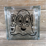 Boo Ghost Halloween Glass Block Decal