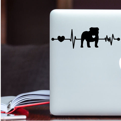 Bulldog Heartbeat Decal