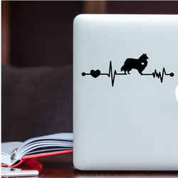 Collie Heartbeat Decal