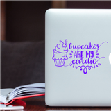 Cupcakes are my Cardio Car Decal