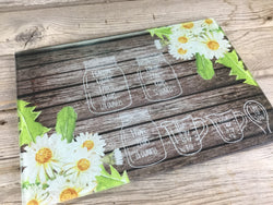 Daisy Measurement Conversion Glass Cutting Board