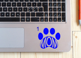 Dog Mom Paw Print Decal
