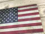 American Flag Glass Cutting Board
