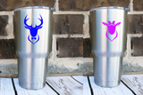 His & Hers Deer Head Vinyl Decals