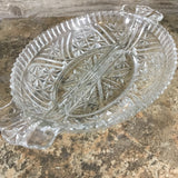 Anchor Hocking Stars and Bars Relish Dish