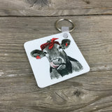 Bandana Cow Key Chain