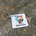 Rise & Shine Mother Cluckers Key Chain