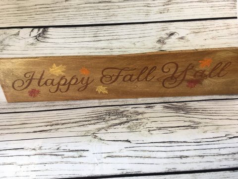 Happy Fall Ya'll Reclaimed Wood Sign