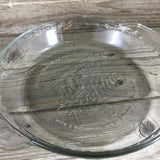 "9"" Clear Fire-King 50th Anniversary Glass Pie Plate"