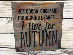 Halloween & Autumn Double Sided Sign