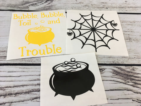 Halloween Decal Set of 3